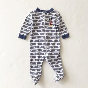 Disney Mickey Mouse zipper footed sleeper 3-6m